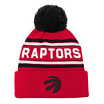 Toronto Raptors Youth Wordmark Jacquard Cuffed Knit Hat by Outerstuff
