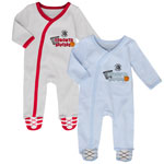 Toronto Raptors Newborn Basketball's Best 2-Piece Long Sleeve Coverall Set by Outerstuff