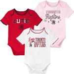 Toronto Raptors Newborn Girls 3rd Quarter 3-Piece Creeper Set by Outerstuff