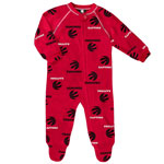 Toronto Raptors Newborn All Over Print Raglan Sleeper by Outerstuff
