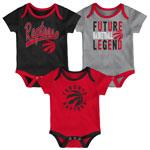 Toronto Raptors Newborn Champion 3-Piece Creeper Set by Outerstuff
