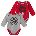 Toronto Raptors Newborn Trophy 2-Piece Long Sleeve Creeper Set by Outerstuff