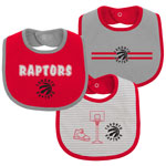 Toronto Raptors Newborn Fair Shot 3-Pack Bib Set by Outerstuff