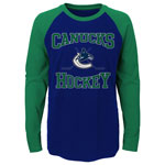 Vancouver Canucks Preschool Morning Skate Long Sleeve Raglan T-Shirt by Outerstuff