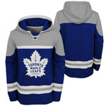 Toronto Maple Leafs Youth Asset Lace-Up Pullover Fleece Hoodie by Outerstuff