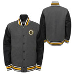 Boston Bruins Youth Letterman Full-Snap Varsity Jacket by Outerstuff