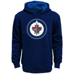 Winnipeg Jets Youth Prime Basic Pullover Fleece Hoodie by Outerstuff