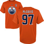 Connor McDavid Edmonton Oilers Preschool Player Name and Number T-Shirt by Outerstuff