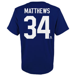 Auston Matthews Toronto Maple Leafs Youth Player Name and Number T-Shirt by Outerstuff