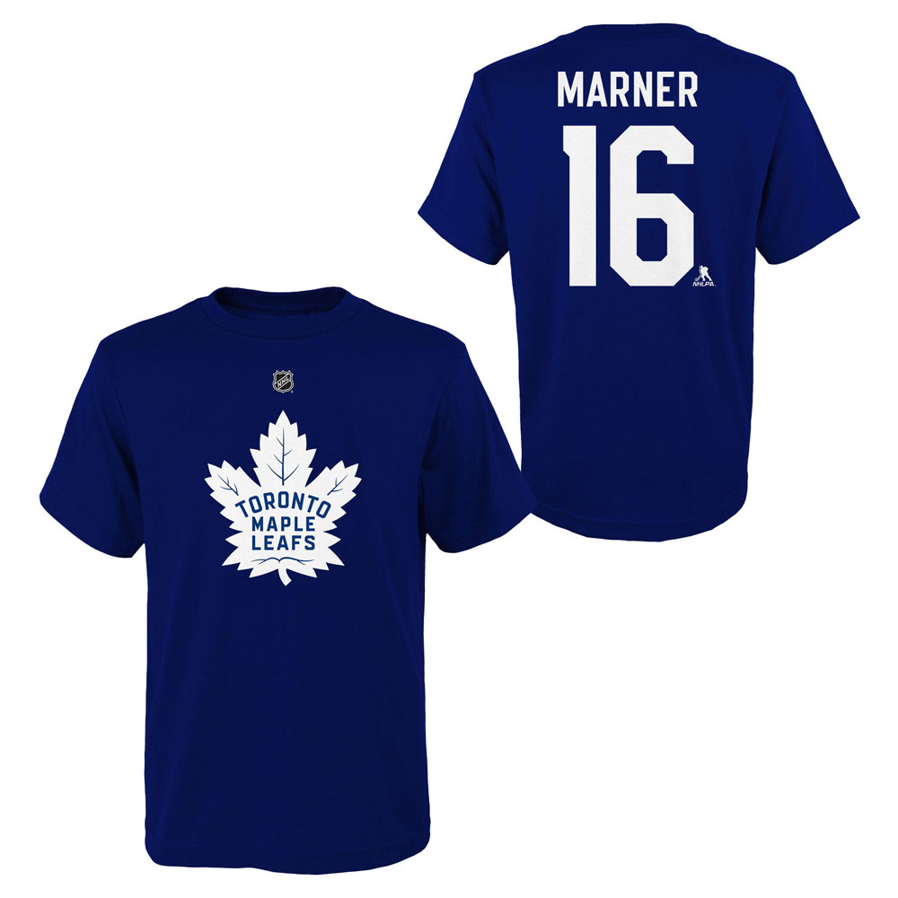 best service da631 215c0 Mitch Marner Toronto Maple Leafs Youth Player Name and Number T-Shirt by  Outerstuff