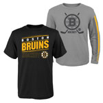 Boston Bruins Youth Binary 2-in-1 Long Sleeve/Short Sleeve T-Shirt Set by Outerstuff