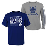 Toronto Maple Leafs Youth Binary 2-in-1 Long Sleeve/Short Sleeve T-Shirt Set by Outerstuff