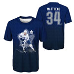 Auston Matthews Toronto Maple Leafs Youth Player Action Name and Number Performance T-Shirt by Outer