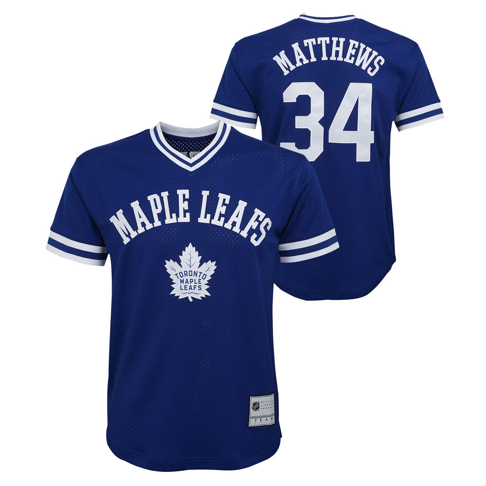 online store 470c0 accc1 Auston Matthews Toronto Maple Leafs Youth Name and Number Fashion V-Neck  Mesh Jersey Top by Outerstuff