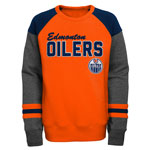 Edmonton Oilers Youth On-Trend Basics Long Sleeve Hockey Crew by Outerstuff