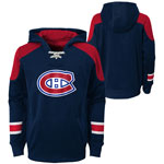 Montreal Canadiens Youth Zenith Performance Pullover Fleece Hoodie by Outerstuff