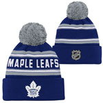 Toronto Maple Leafs Youth Wordmark Jacquard Cuffed Knit Hat by Outerstuff