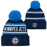 Winnipeg Jets Youth Wordmark Jacquard Cuffed Knit Hat by Outerstuff
