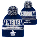 Toronto Maple Leafs Youth Pattern Jacquard Cuffed Knit Hat by Outerstuff
