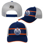 Edmonton Oilers Youth Authentic Rinkside Trucker Adjustable Hat by Outerstuff