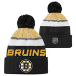 Boston Bruins Youth Authentic Pro Rinkside Goalie Cuffed Knit Hat by Outerstuff