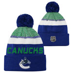 Vancouver Canucks Youth Authentic Pro Rinkside Goalie Cuffed Knit Hat by Outerstuff