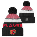 Calgary Flames Youth Authentic Pro Rinkside Goalie Cuffed Knit Hat by Outerstuff
