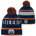 Edmonton Oilers Youth Breakaway Jacquard Cuffed Knit Hat by Outerstuff