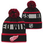 Detroit Red Wings Youth Breakaway Jacquard Cuffed Knit Hat by Outerstuff