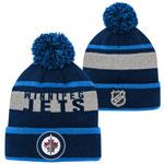 Winnipeg Jets Youth Breakaway Jacquard Cuffed Knit Hat by Outerstuff