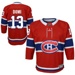 Max Domi Montreal Canadiens Youth Premier Home Jersey by Outerstuff