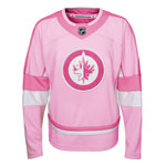 Winnipeg Jets Youth Girls Pink Fashion Jersey by Outerstuff