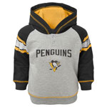 Pittsburgh Penguins Toddler Classic Stripe Pullover Fleece Hoodie by Outerstuff