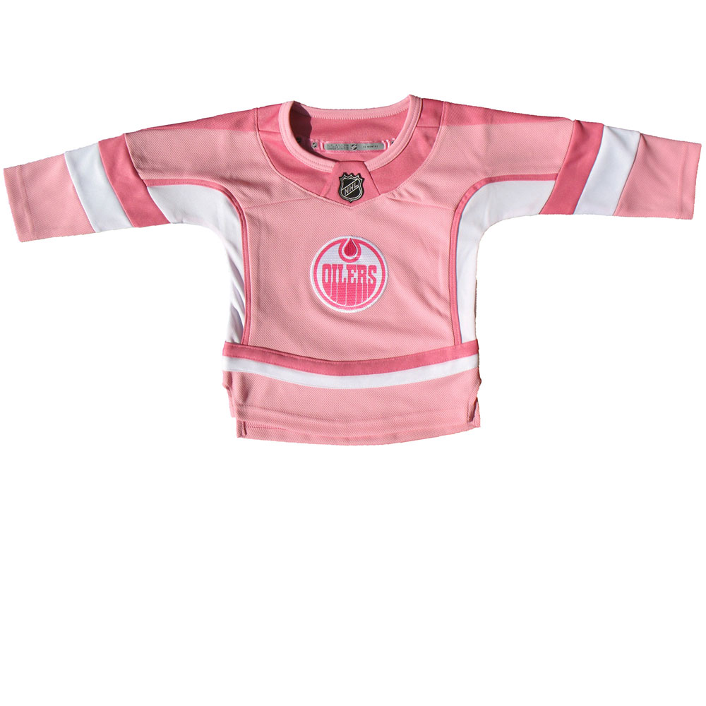 2af51c458 TheSportsDen.ca  Edmonton Oilers Infant Girls Pink Fashion Jersey by ...