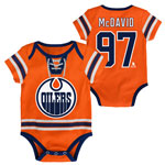 Connor McDavid Edmonton Oilers Infant Cherry Picking Name and Number Creeper by Outerstuff