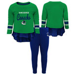Vancouver Canucks Infant Girls Show Off Long Sleeve Top and Leggings Set by Outerstuff