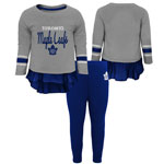 Toronto Maple Leafs Infant Girls Show Off Long Sleeve Top and Leggings Set by Outerstuff