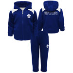 Toronto Maple Leafs Toddler Catcher Performance Zip-Up Hooded Jacket & Pant Set by Outerstuff