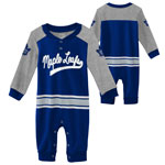 Toronto Maple Leafs Infant Little D-Man Long Sleeve Coverall by Outerstuff