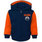 Edmonton Oilers Infant Stadium Full-Zip Fleece Hoodie by Outerstuff