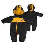 Pittsburgh Penguins Infant Puck Drop Puffer Bodysuit by Outerstuff