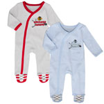 Chicago Blackhawks Newborn Hockey's Best 2-Piece Long Sleeve Coverall Set by Outerstuff