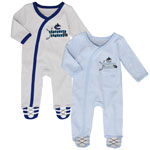 Vancouver Canucks Newborn Hockey's Best 2-Piece Long Sleeve Coverall Set by Outerstuff