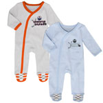 Edmonton Oilers Newborn Hockey's Best 2-Piece Long Sleeve Coverall Set by Outerstuff