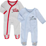 Detroit Red Wings Newborn Hockey's Best 2-Piece Long Sleeve Coverall Set by Outerstuff