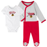 Chicago Blackhawks Newborn Future Champ Bodysuit, Shirt, and Pants Set by Outerstuff