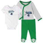 Vancouver Canucks Newborn Future Champ Bodysuit, Shirt, and Pants Set by Outerstuff