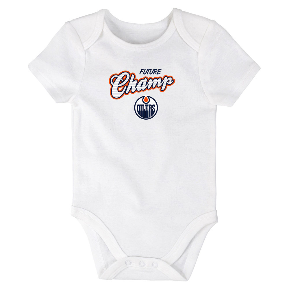 Edmonton Oilers Newborn Future Champ Bodysuit, Shirt, and Pants Set by Outerstuff