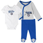 Winnipeg Jets Newborn Future Champ Bodysuit, Shirt, and Pants Set by Outerstuff