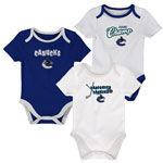 Vancouver Canucks Newborn 3rd Period 3-Piece Creeper Set by Outerstuff